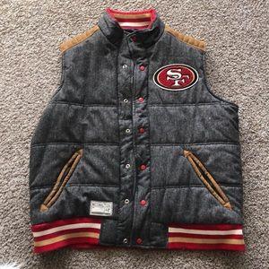 49ers Legacy Button up Reversible Vest